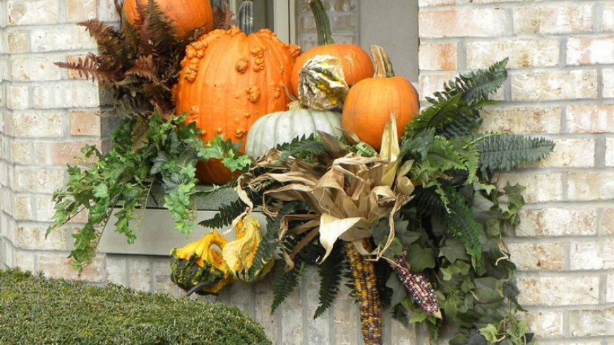 Un jardín en Halloween